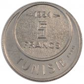 Tunisie, Mohamed Lamine Bey, 5 Francs Essai