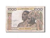 West African States, 1000 Francs, 1961-1965, KM:203Bn, Undated, TTB, K.175 A