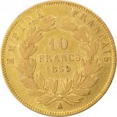 Second Empire, 10 Francs or Napol�on III t�te nue