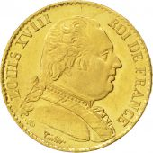Louis XVIII, 20 Francs or buste habill�, Lille