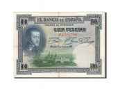 Spain, 100 Pesetas, 1925, KM:69c, 1925-07-01, VF(30-35)