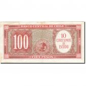 Chile, 10 Centesimos on 100 Pesos, 1960, Undated (1960-1961), KM:127a, TB
