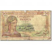 France, 50 Francs, 50 F 1934-1940 Cérès, 1934, 1936-06-18, VG(8-10)
