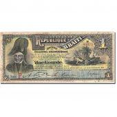 Banknote, Haiti, 1 Gourde, 1892, 1892-09-29, KM:101a, VF(20-25)