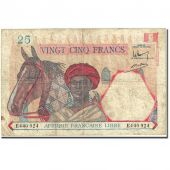 Banknote, French Equatorial Africa, 25 Francs, 1941, Undated (1941), KM:7a