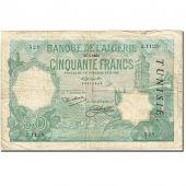 Billet, Tunisie, 50 Francs, 1921-1926, 1933-01-26, KM:9, TB
