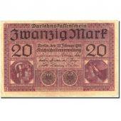 Billet, Allemagne, 20 Mark, 1917-1918, 1918-02-20, KM:57, TTB+
