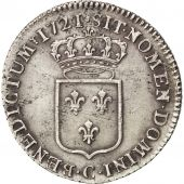Louis XV, 1/3 Ecu de France 1721 Caen, KM 457.5