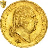 Louis XVIII, 40 Francs or 1818 Lille, KM 713.6