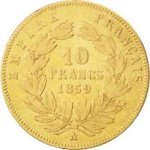 Second Empire, 10 Francs or Napol�on III t�te nue 1859 Paris, KM 784.3