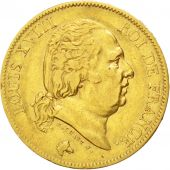 Louis XVIII, 40 Francs or 1824 Paris, KM 713.1