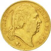 Louis XVIII, 20 Francs or buste nu 1817 Bordeaux, KM 712.4