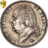 Louis XVIII, 1 Franc 1824 Paris, PCGS MS62, KM 709.1