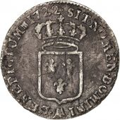 Louis XV, 1/3 Ecu de France 1722 Metz, KM 457.2