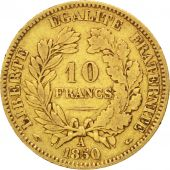 II�me R�publique, 10 Francs or C�r�s 1850 Paris, oreille relev�e, KM 770