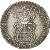 Louis XV, Ecu de France-Navarre 1718 Tours, KM 435.7