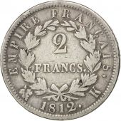 Premier Empire, 2 Francs au revers Empire 1812 Bordeaux, KM 693.8