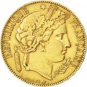 II�me R�publique, 20 Francs or C�r�s 1850 Paris, KM 762