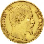 Second Empire, 20 Francs or Napol�on III t�te nue 1858 Paris, KM 781.1