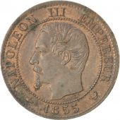 Second Empire, 1 Centime Napoléon III tête nue 1855 Lille, KM 775.7