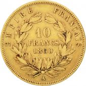 Second Empire, 10 Francs or Napol�on III grand module 1860 Paris, KM 784.3