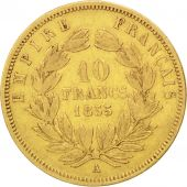 Second Empire, 10 Francs or Napol�on III grand module 1855 Paris, KM 784.3
