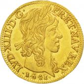 Louis XIII, Louis d'or de Warin mèche longue 1641 Paris, KM 104
