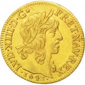 Louis XIII, Louis d'or de Warin mèche mi-longue 1642 Paris, KM 104