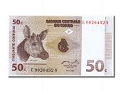 Congo, 50 Centimes type Okapi's head