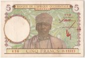 Western Africa, 5 Francs type 1941-43