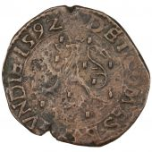 FRANCHE COMTE, County of Bourgogne, Philippe II of Spain, Double denarius in copper