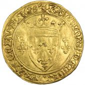 Charles VII, golden Ecu with crown, Tournai