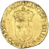 Charles IX, golden Ecu with sun