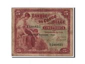 Belgian Congo, 5 Francs type 1941-50, Second issue - 1942