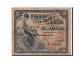 Belgian Congo, 5 Francs type 1941-50, Sixth issue - 1947