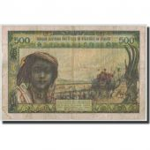 West African States, Senegal, 500 Francs, Undated (1959-65), KM:702Kn, VF(20-25)