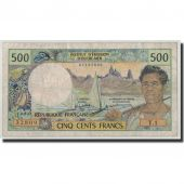 New Caledonia, 500 Francs, Undated (1969-92), KM:60e, VF(20-25)