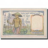 FRENCH INDO-CHINA, 1 Piastre, Undated (1949), KM:54d, SUP+