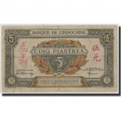 FRENCH INDO-CHINA, 5 Piastres, Undated (1942-45), KM:61, TB