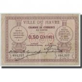 France, Le Havre, 50 Centimes, TB, Pirot:68-1