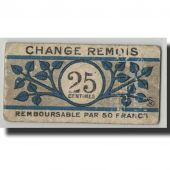 France, Reims, 25 Centimes, 1914, B+, Pirot:51-43