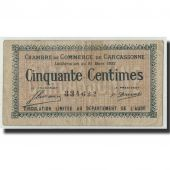 France, Carcassonne, 50 Centimes, 1922, TB, Pirot:38-19