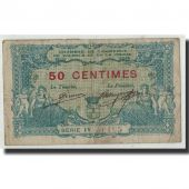 France, Valence, 50 Centimes, 1915, B+, Pirot:127-2