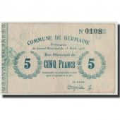 France, Germaine, 5 Francs, 1915, EF(40-45), Pirot:02-1054