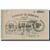 France, Germaine, 50 Centimes, 1915, EF(40-45), Pirot:02-1051
