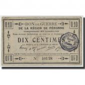 France, Peronne, 10 Centimes, 1915, TB, Pirot:80-411