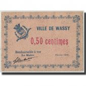 France, Wassy, 50 Centimes, 1916, UNC(63), Pirot:52-47