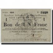 France, Sedan, 1 Franc, 1916, VF(20-25), Pirot:08-283