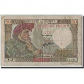 France, 50 Francs Jacques Coeur, KM:93, Fayette:19.6, 1941-02-13, F(12-15)
