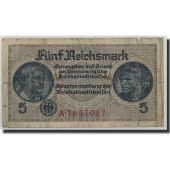 Banknote, Germany, 5 Reichsmark, Undated (1940-45), KM:R138a, VG(8-10)